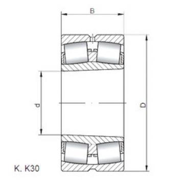 24096 K30W33 ISO Aligning Roller Bearing