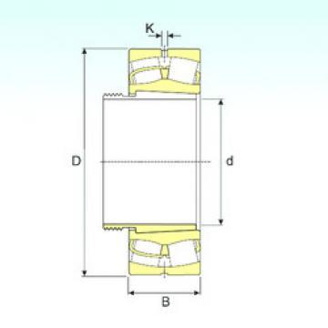 241/600 EK30W33+AOH241/600 ISB Spherical Roller Bearings