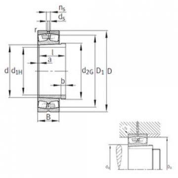 24096-B-K30-MB+AH24096  Spherical Roller Bearings