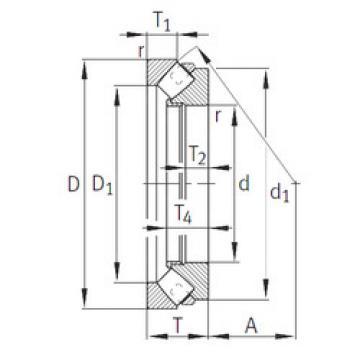 294/1000-E1-MB INA Thrust Roller Bearings