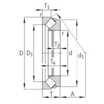 294/850-E1-MB INA Thrust Roller Bearings