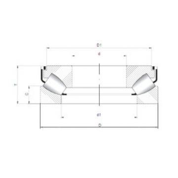 29468 M ISO Thrust Roller Bearings