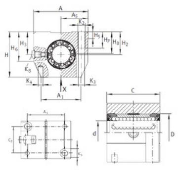 KGN 25 C-PP-AS INA Bearings Disassembly Support