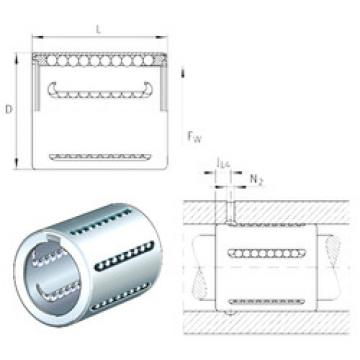 KH10 INA Plastic Linear Bearing