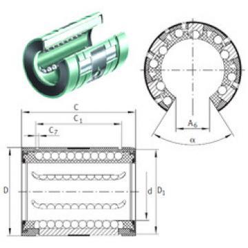 KNO20-B INA Plastic Linear Bearing