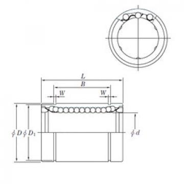 SESDM50  Plastic Linear Bearing